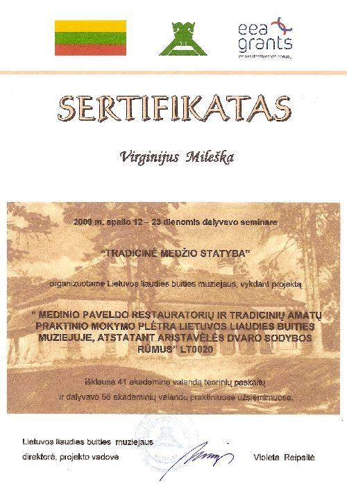 nendriniai stogai sertifikatas